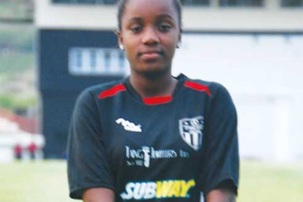 Female player Vionce Weekes was in action for VSADC against Super J Boboville. (PHOTO: Anthony De Beauville)