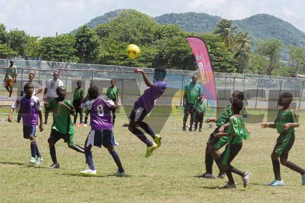 Roseau Valley Under-13's continue their dominance against VSADC (Photo Anthony De Beauville)