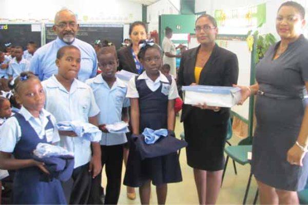 The presentation at La Croix Maingot School.