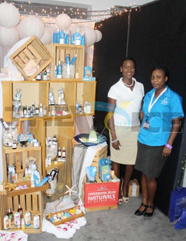 Caribbean Blue Naturals by Natmed Ltd. staff showcasing their products at this year's Love Elevated Wedding Symposium. [PHOTO: Stan Bishop]
