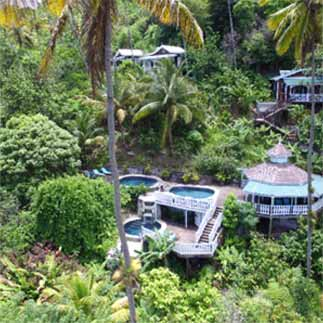 A section of Fond Doux resort.