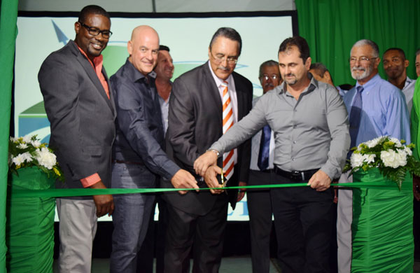 Image: Cutting the ribbon to officially open CPJ Saint Lucia