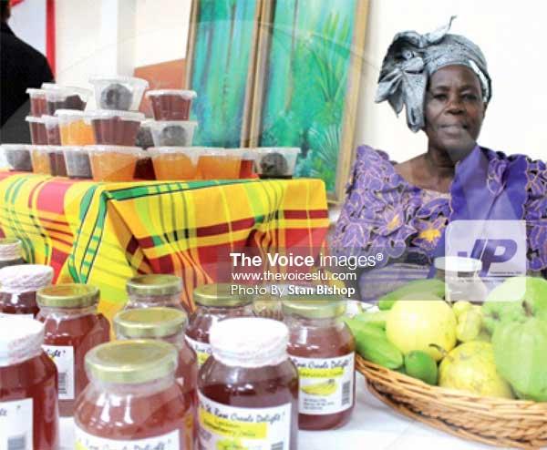 Image: Ethelina Lansiquot's breadfruit jam was among the many tasty products on show last year. [PHOTO: Stan Bishop]