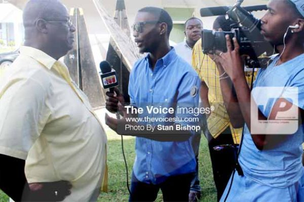 iMAGE: King speaking with the media