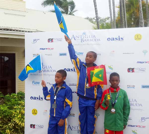 Image: St. Lucians celebrate a victory.