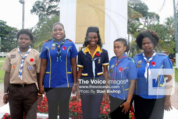 Image: The St. Lucia Scouts Association also joined in remembering the war veterans.
