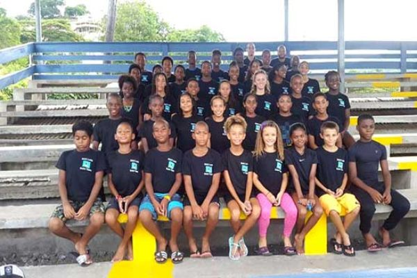 Image: The St. Lucia swim team