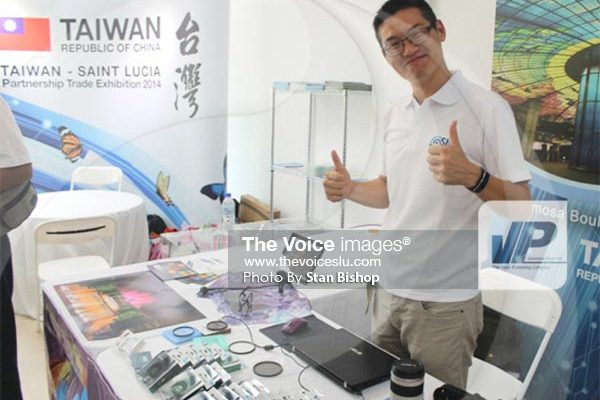 Image: The Taiwanese participants usually highlight their country's technologies. [Photo: Stan Bishop]