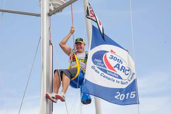 """iMAGE: Up the mast on """"Toujours"""""""
