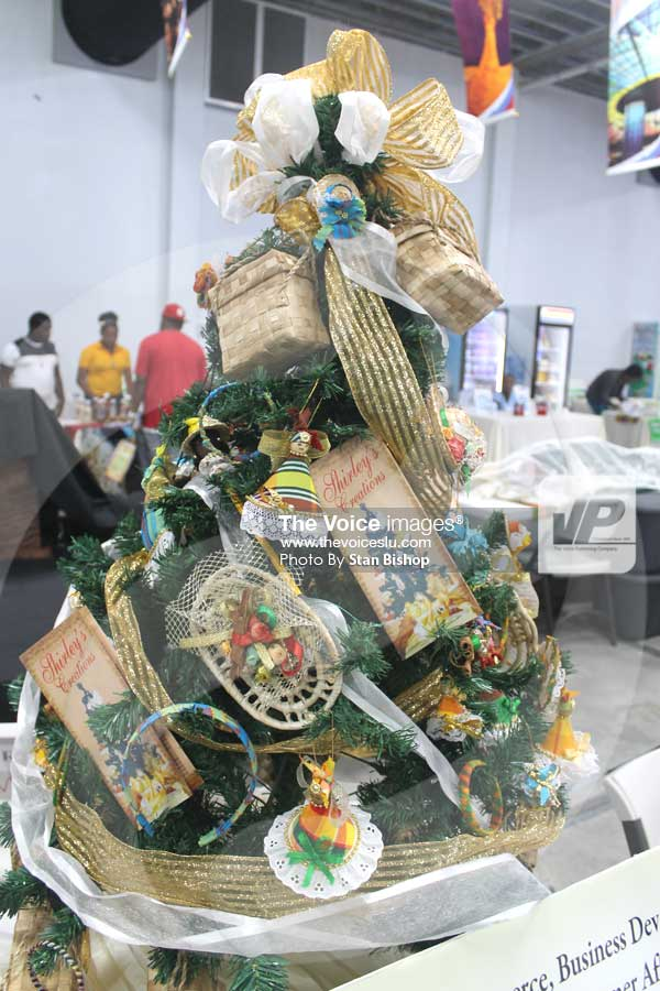 Image: A creole-themed Christmas tree designed by Edward. [PHOTO: Stan Bishop]