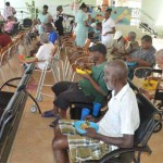 Senior Citizens and children alike all came in for attention from Coconut Bay.