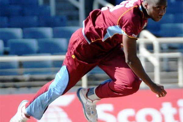 Image: Miguel Cummins in delivery stride. (PHOTO: WICB Media)