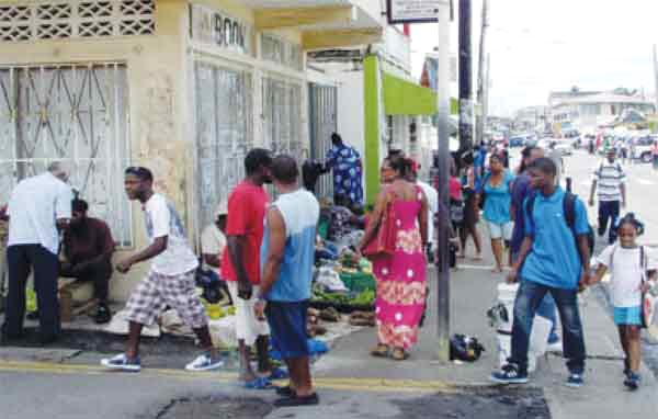 Image: Street vendors in Vieux Fort
