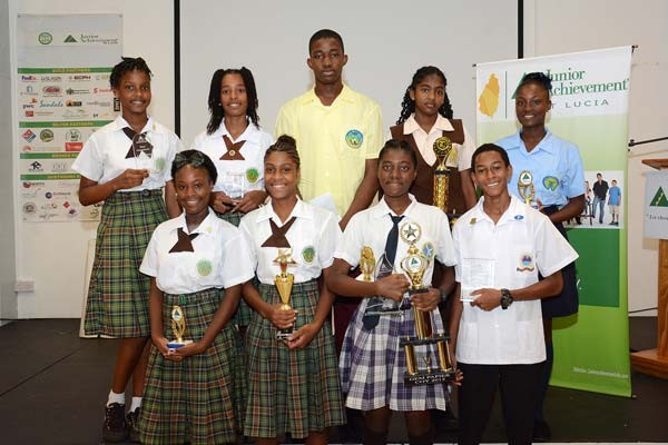 Image: Winners at this year's JA St Lucia Awards Ceremony