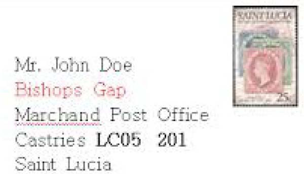 St lucia enters zip code era st lucia news from the for Code postal st brice