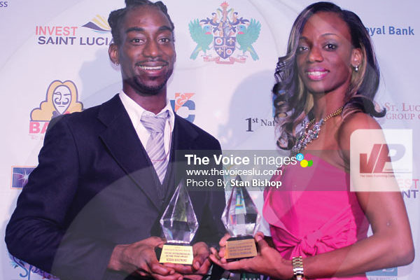 Keran Rosemond (left) and Mandisa Morrison (right) tied for the Award for Young Entrepreneur of the Year