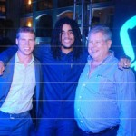 """From Left to Right: Adam Stewart, CEO of Sandals Resorts International, Skip Marley, grandson of the late reggae icon Bob Marley and son of Cedella Marley, Gordon """"Butch"""" Stewart, Chairman of Sandals Resorts International"""