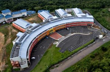 Image: Aerial view of the Dr. Owen King-EU Hospital. [PHOTO: Bill Mortley]