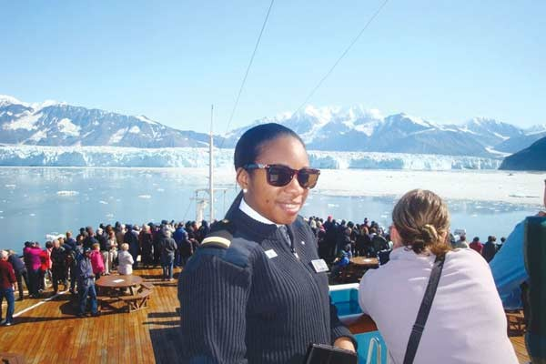 Image: Tricia Faucher and guests enjoying the sights in Alaska
