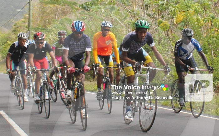 Image: Local cyclists in training (PHOTO BY ANTHONY DE BEAUVILLE)