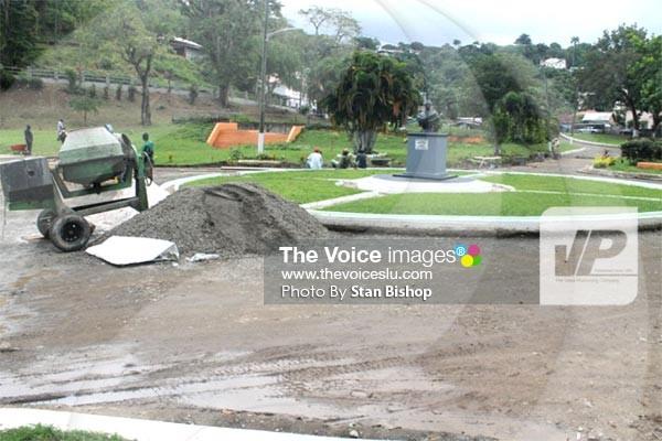 Image: Renovation works underway at George V Park. [PHOTO: Stan Bishop]