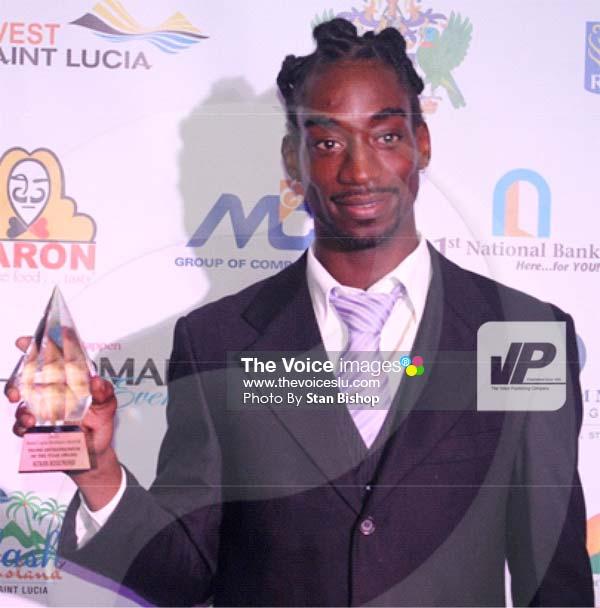 Image: Young Entrepreneur of the Year, Keran Rosemond. [PHOTO: Stan Bishop]