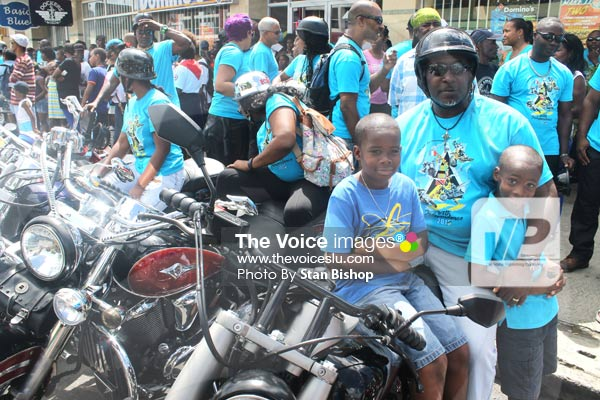 These cool riders were among the flood of bikes and other bikers at the bikers extravaganza.