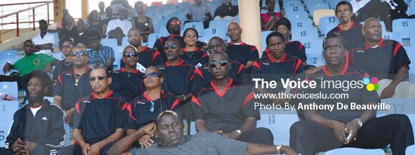 Image: Brain's first football club VSADC shows solidarity. (Photo Anthony De Beauville)