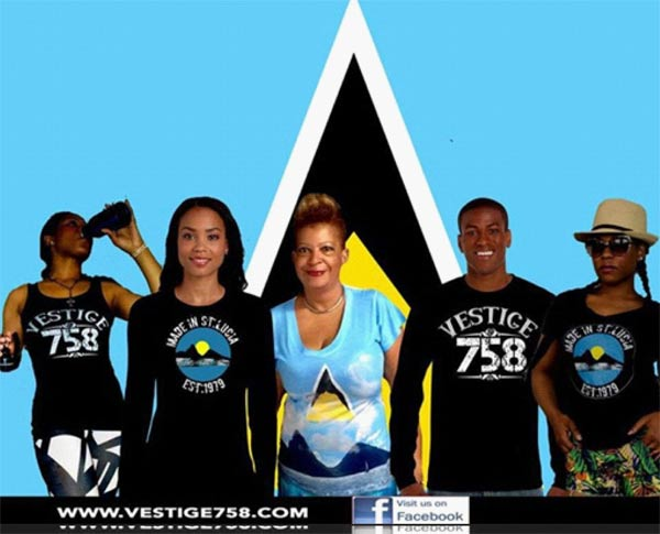Models wearing some of the Vestige 758 tee shirts.