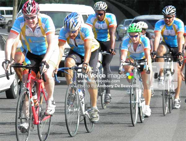 Image: Some members of the Project Breakaway Cycling Team in action..(PHOTO: Anthony De Beauville)