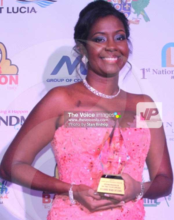 Image: 2016 St. Lucia Business Awards Entrepreneur of the Year, Julianna Ward-Destang. [PHOTO: Stan Bishop]