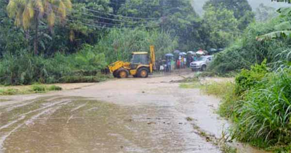Image of flooding in Dennery yesterday.