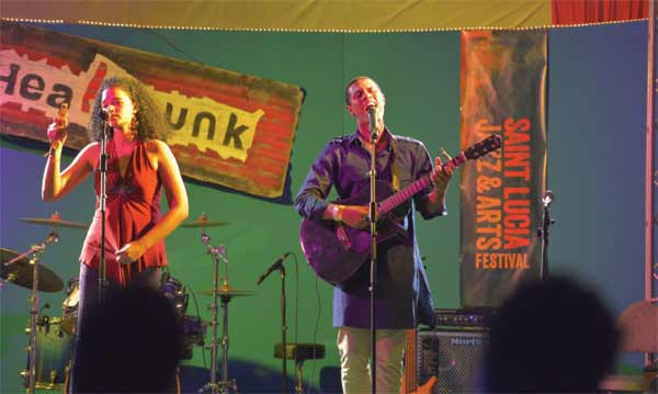 Image: Headphunk at the Jazz and Art Festival.