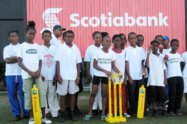 Kiddy Cricketers in St. Lucia