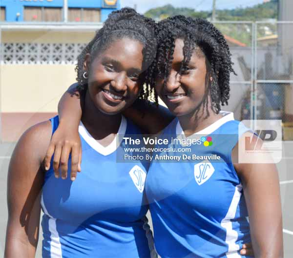 Image: SJC twin sisters Kait and Kaitlyn will create history when they play the final on Friday. [Photo By Anthony De Beauville]