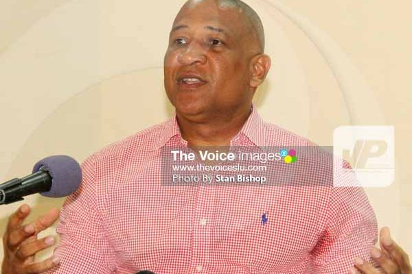 Image: SLP candidate for Castries South, Dr. Ernest Hilaire. [PHOTO: Stan Bishop]