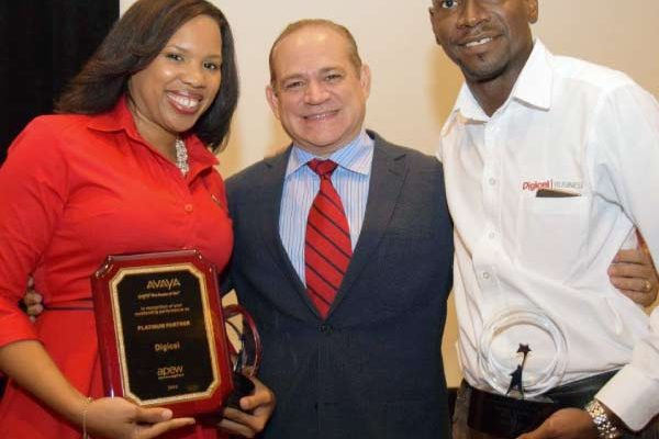 Image: Best Sales person Selwyn Adams at right.