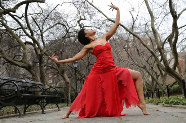 Micole red dress