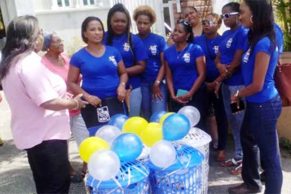 Image: RBC employees at Gros Islet.