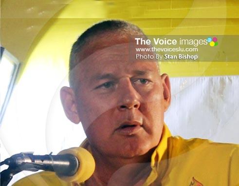 UWP Political Leader, Allen Chastanet.[PHOTO: Stan Bishop]