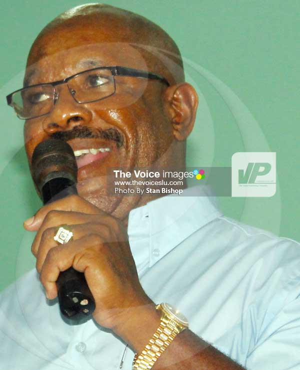 Image: Castries Central MP, Richard Frederick. [PHOTO: Stan Bishop]