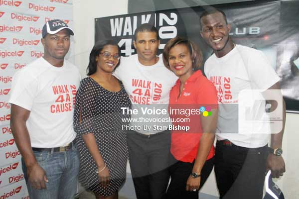 Image: Cricketers Darren Sammy and Johnson Charles are among those supporting the May 29 walk. [PHOTO: Stan Bishop]