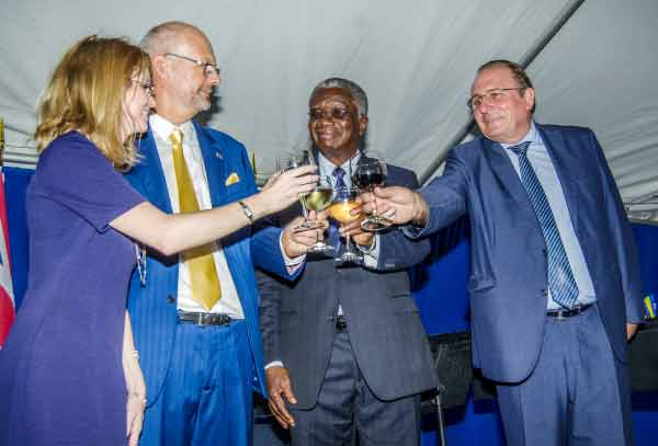 Image: P.M. Stuart and Ambassadors toast the occasion