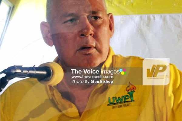 Image: UWP Political Leader, Allen Chastanet.[PHOTO: Stan Bishop]