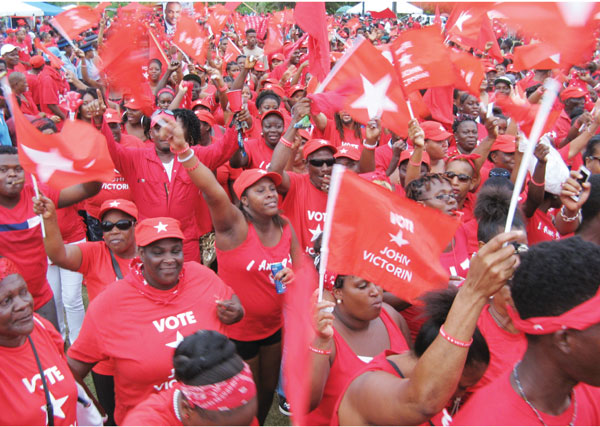 Labour supporters [PHOTO BY Photo Mike]