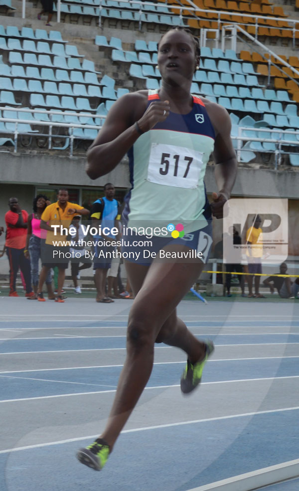 img: US based Heptathlon athlete Makeba Alcide took charge of the event for the two days.