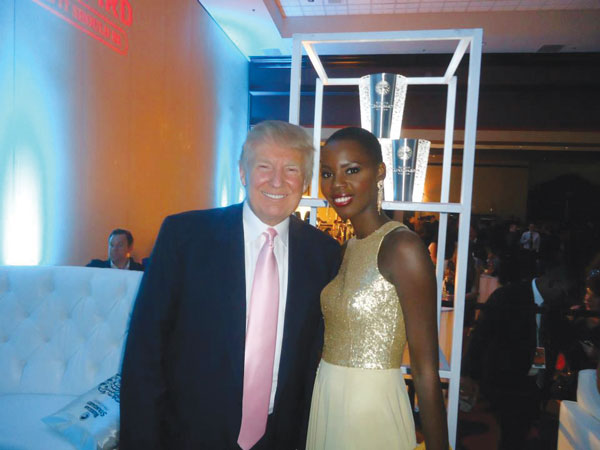 Tara and former Miss Universe Franchise Owner Donald Trump