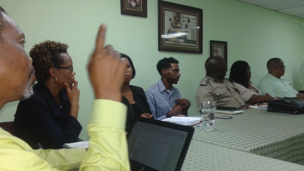 Some of those who took part in the meeting