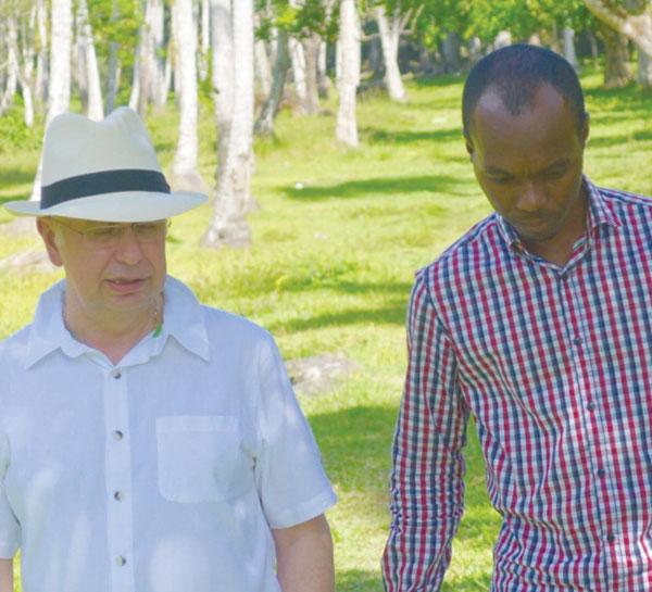 img: Kenny and Fedee at the Plantation (Photo Boka Group