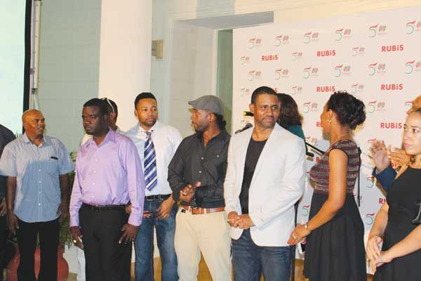 img: Some of Rubis local staff members who were introduced to guests at the party.